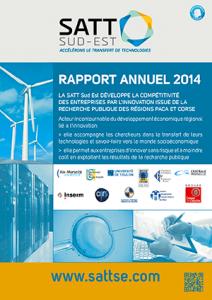 Couverture du Rapport Annuel 2014 de la SATT Sud Est