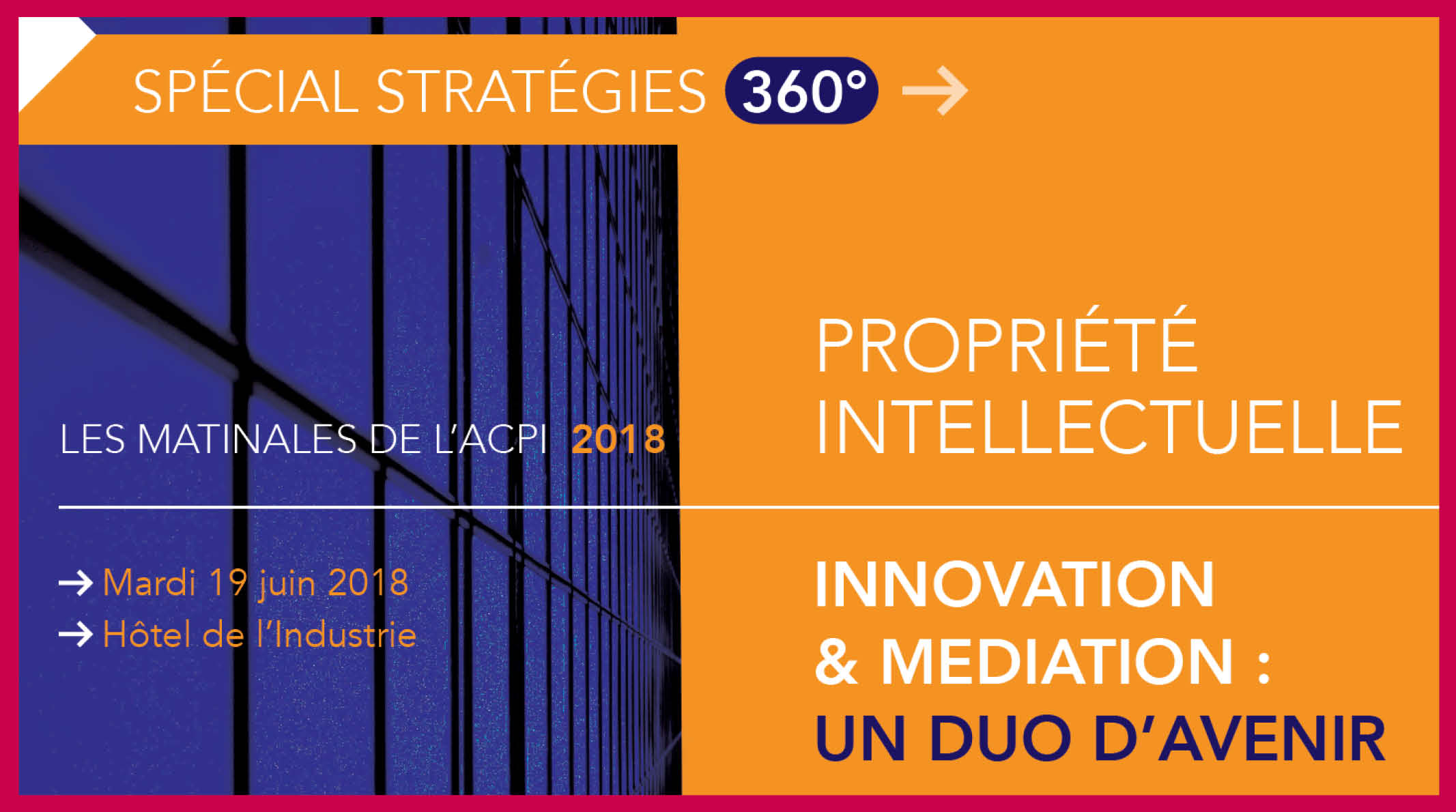 Conférence-débat Innovation & Médiation : un duo d'avenir