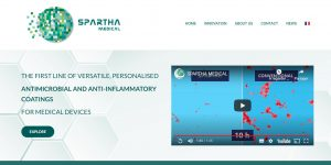 home page site Spartha Medical