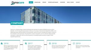 Home page site web Dynacure